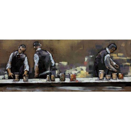 Gave Painting 3d metal 60x150cm Waiters