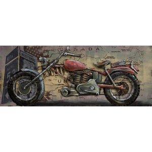 Gave Schilderij 3d metaal 60x150cm Low rider