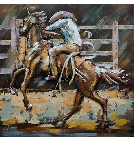 Malerei 3D Metall 100x100cm Rodeo 2