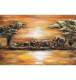 Eliassen Painting metal 3d 80x120cm Africa