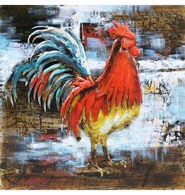 Eliassen Metal painting 80x80cm Rooster
