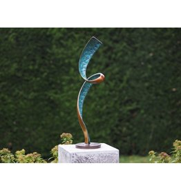 Eliassen Bronze Abstract Helix sculpture