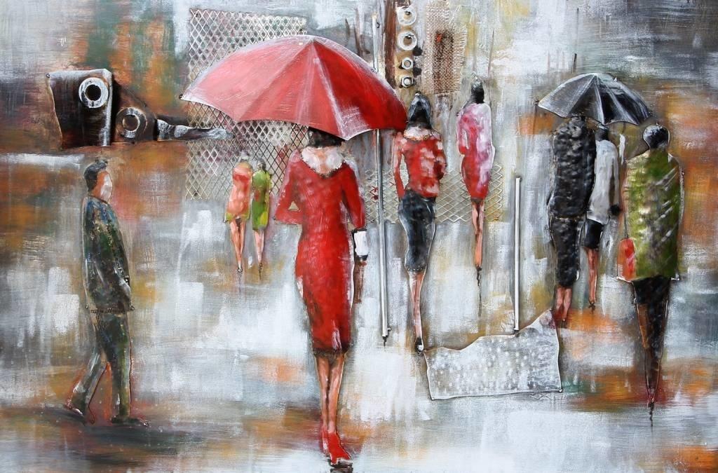 Eliassen 3D Metalen schilderij 80x120cm Raintime