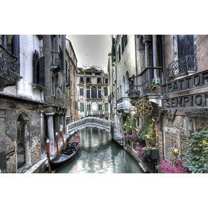 Gave Gemälde Glas 80x120cm Venice1