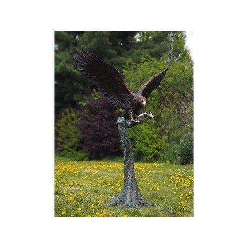 Eliassen Arend op boomstronk brons