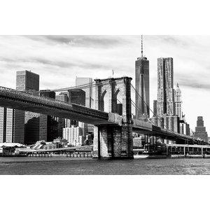 Gave Painting glass 80x120cm bridge New York