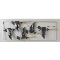 Wall decoration metal 3d Birds