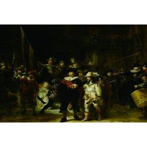 Eliassen Nachtwacht glasschilderij 150x100cm