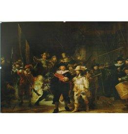 Eliassen The Night Watch glass painting 80x120cm