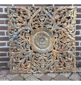 Wall panel wood square