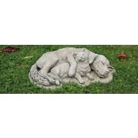 Tuinbeeld hond en kat