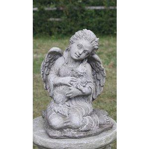 Dragonstone Tuinbeeld engel met kat