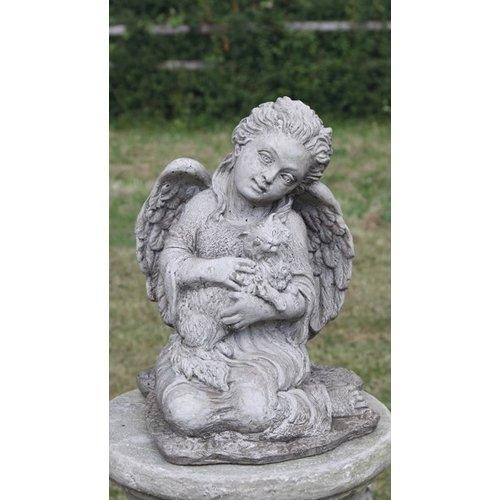 Dragonstone Garden statue angel with cat