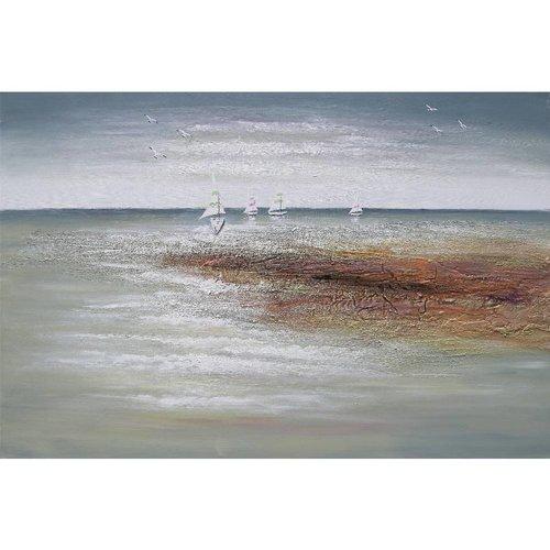 Canvas schilderij 120 x 80 cm Zeezicht