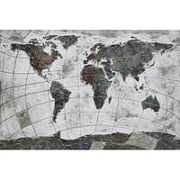 Canvas schilderij 120 x 80 cm Wereldkaart