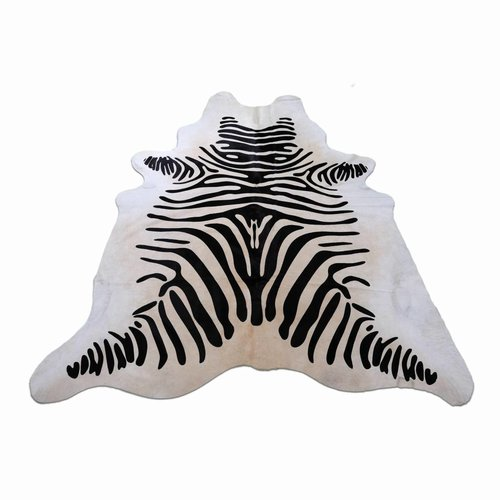 Rinderhaut großer Zebra-Print