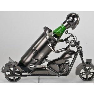 Wine bottle holder Motorcyclist large