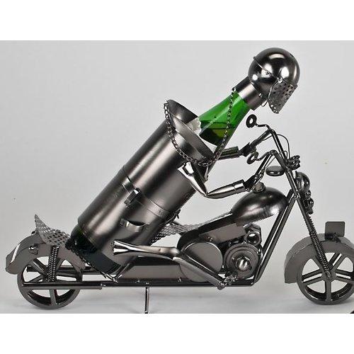 Weinflaschenhalter Motorradfahrer groß