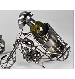 Weinflaschenhalter Motorradfahrer klein