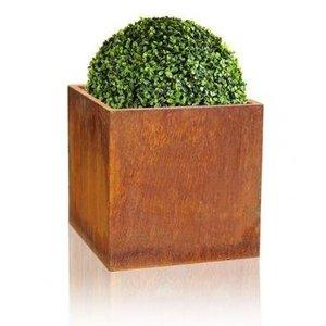 Flower box 60x60x60cm corten steel square