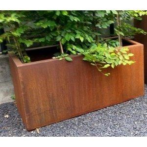 Flower box corten steel rectangle 60 cm