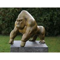 Bronzen gorilla groene hot platina