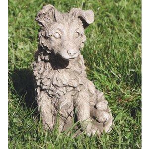 Gartenbildhund Sheltie