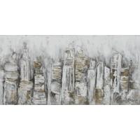 Canvas schilderij 70x140cm Abstracte stad