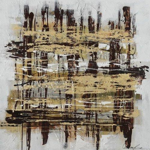 Eliassen Canvas schilderij 100 x 100cm Stripes
