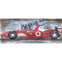 Metalen schilderij 3d 40x100cm Formula 1