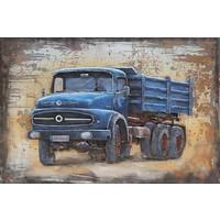 Metal 3D Malerei 120x80cm Mercedes LKW