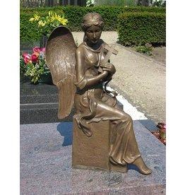 Eliassen Grafbeeld engel met kruis brons