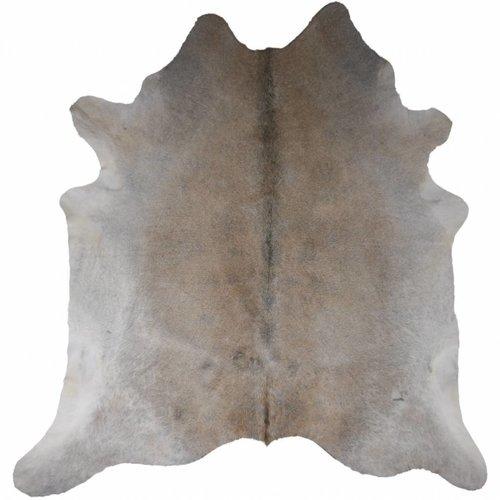 Rinderhaut groß Grau-beige