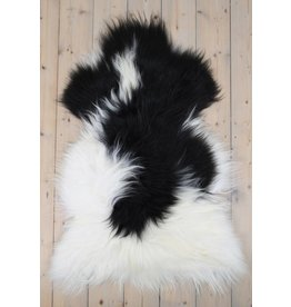 Sheepskin Icelandic black fur