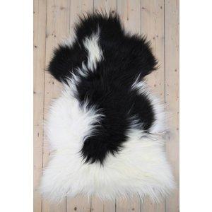 Schaffell isländisches schwarzes Fell