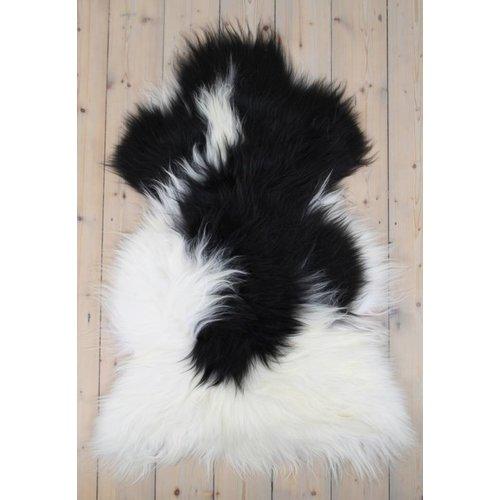 Sheepskin Icelandic black fur