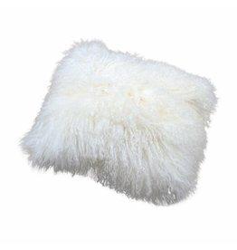 Pillow of Tibetan coat White