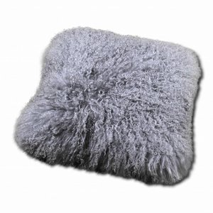 Pillow of Tibetan coat Taupe
