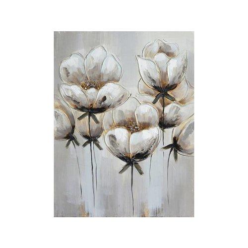 Canvas schilderij 60 x 80 cm Flowers