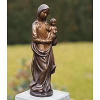 Mariabeeld klein brons