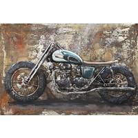 Painting metal 3d Cafe Racer1 80x120cm