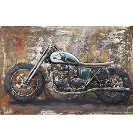 Eliassen Malerei Metall 3d Cafe Racer1 80x120cm