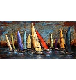 Eliassen Painting metal 3d Regatta3 70x140cm