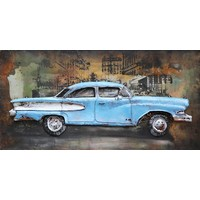 Painting iron 3d American car 70x140cm
