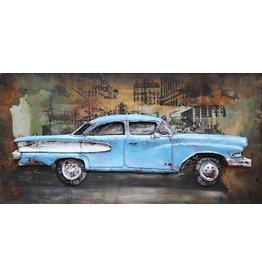 Eliassen Malerei Eisen 3d amerikanisches Auto 70x140cm