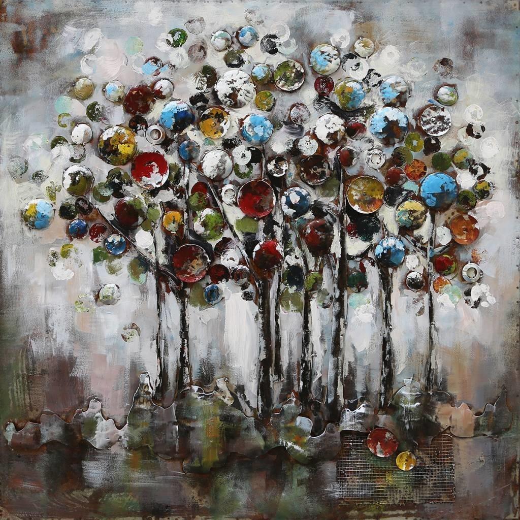 Eliassen 3-d schilderij 100x100cm Fantasie bomen