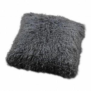Pillow of Tibetan coat Gray