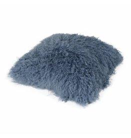 Pillow of Tibetan coat Old blue