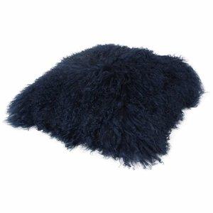 Pillow of Tibetan coat Marine blue