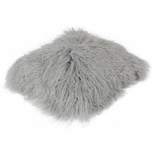 Pillow of Tibetan coat Light gray